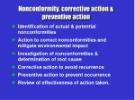 nonconformity corrective action preventive action