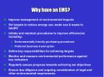 why have an ems