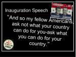 inauguration speech