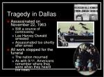 tragedy in dallas