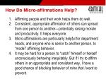 how do micro affirmations help