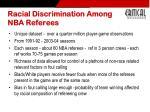 racial discrimination among nba referees1
