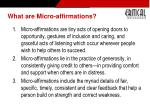 what are micro affirmations