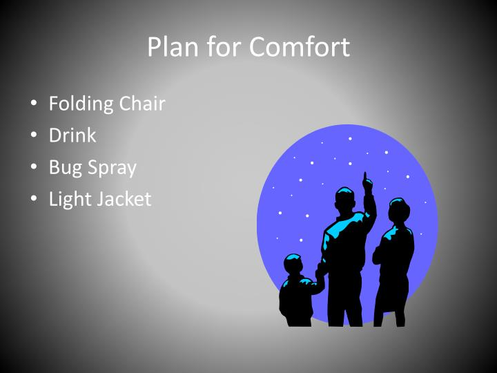Plan for Comfort