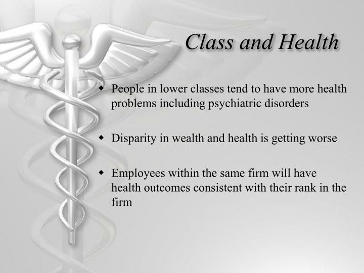 Class and Health
