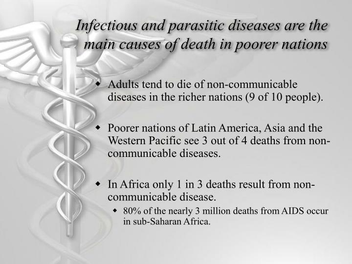 Infectious and parasitic diseases are the main causes of death in poorer nations