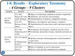 1 8 results exploratory taxonomy 4 groups 9 clusters1