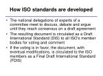 how iso standards are developed