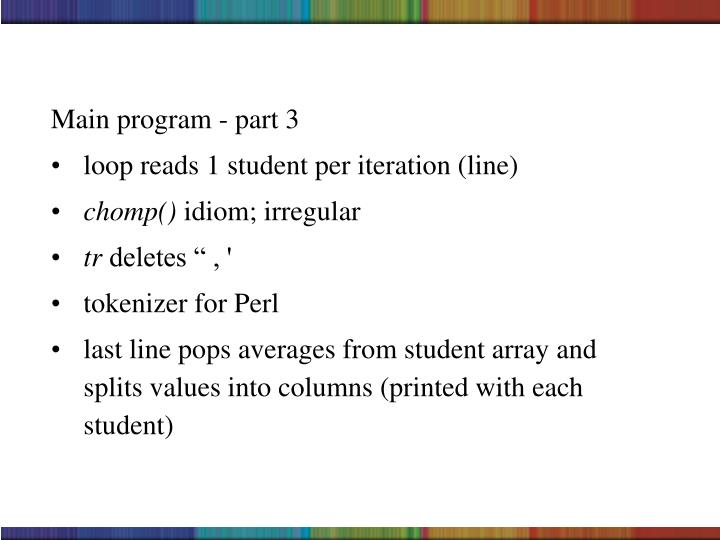Main program - part 3