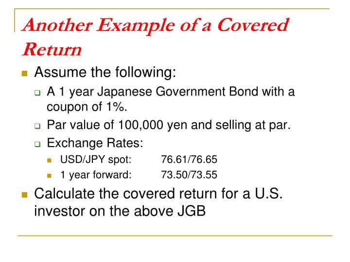 Another Example of a Covered Return