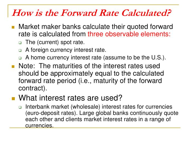 How is the Forward Rate Calculated?