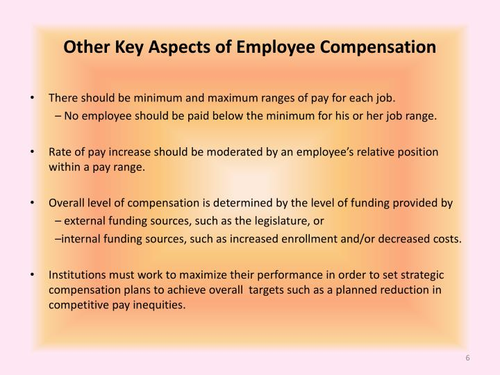 Other Key Aspects of Employee Compensation