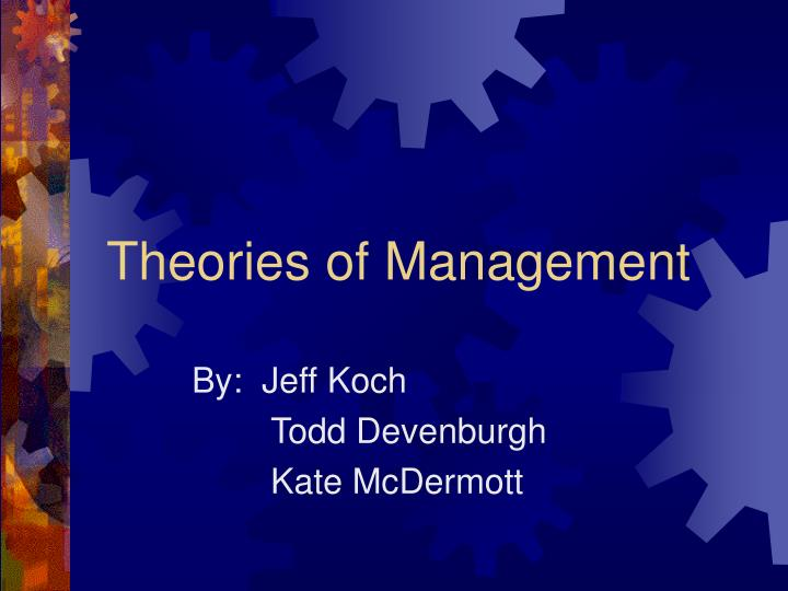 theories of management n.