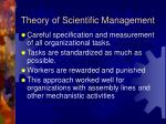 theory of scientific management