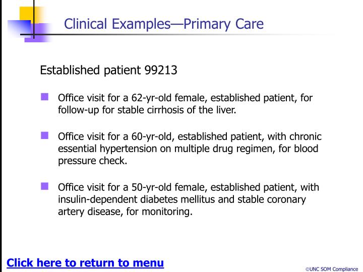 Clinical Examples—Primary Care