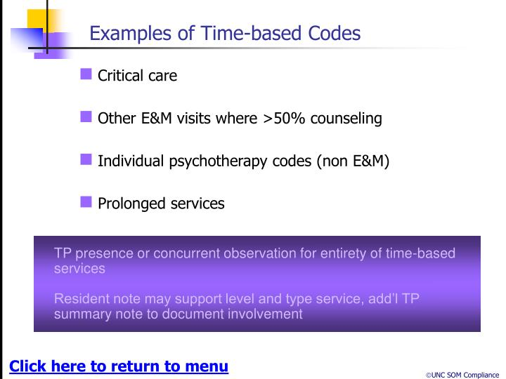 Examples of Time-based Codes