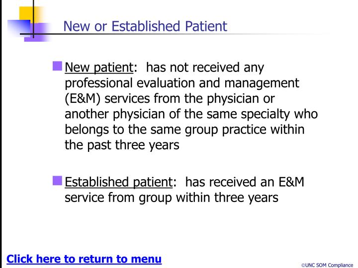 New or Established Patient