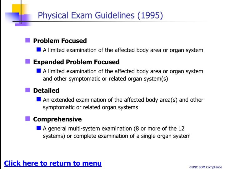 Physical Exam Guidelines (1995)