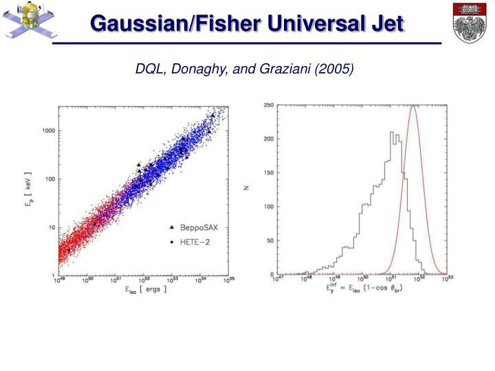 Gaussian/Fisher Universal Jet