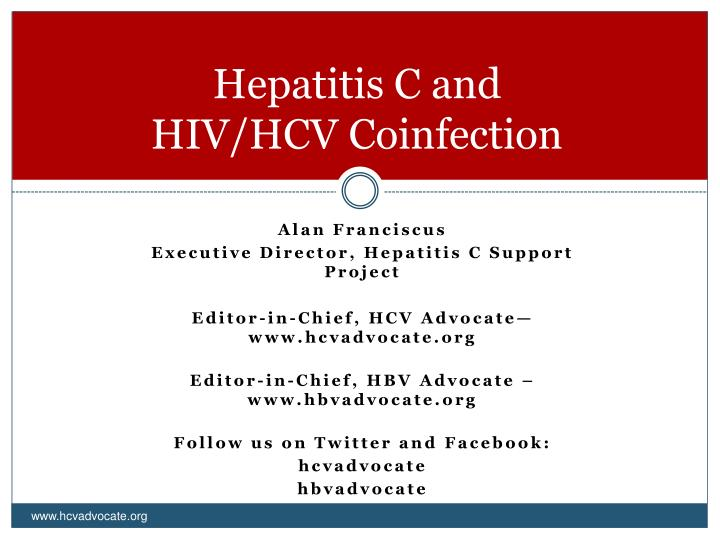Hepatitis c and hiv hcv coinfection