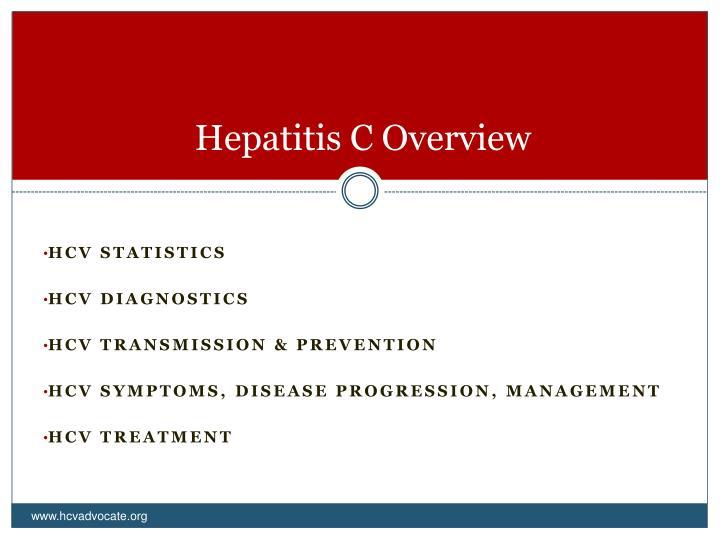 Hepatitis c overview