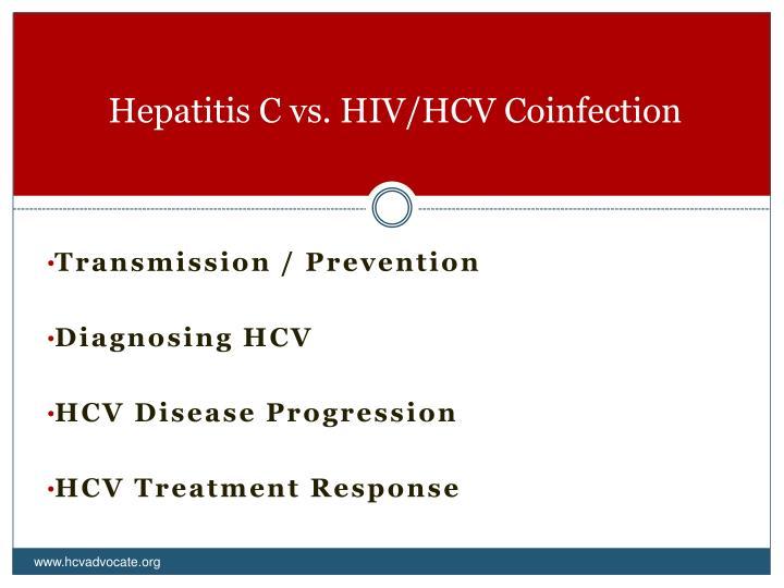 Hepatitis C vs. HIV/HCV Coinfection