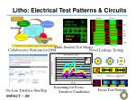 litho electrical test patterns circuits