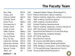 the faculty team