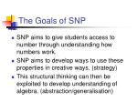 the goals of snp
