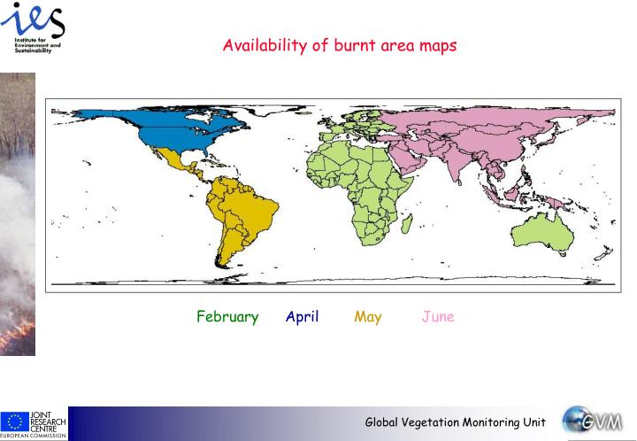 Availability of burnt area maps