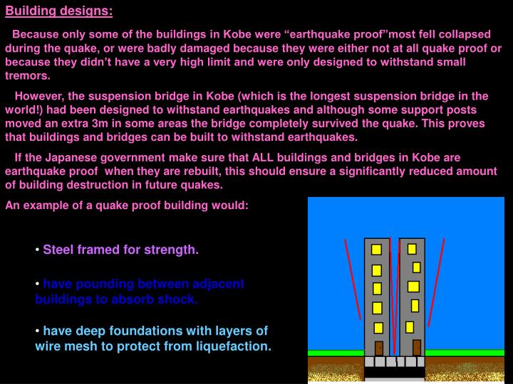 Building designs: