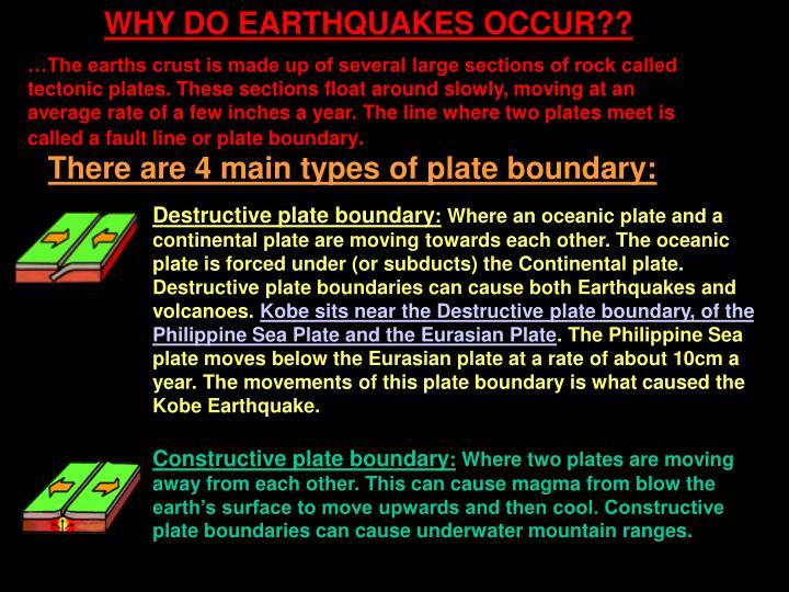 WHY DO EARTHQUAKES OCCUR??