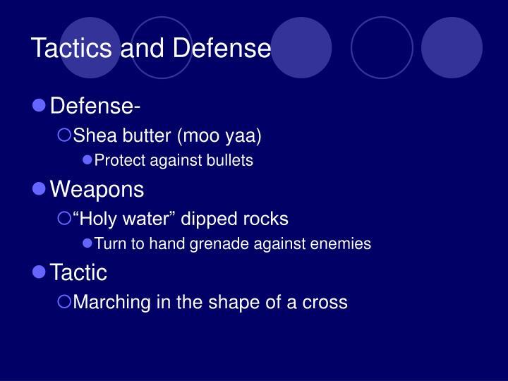 Tactics and Defense