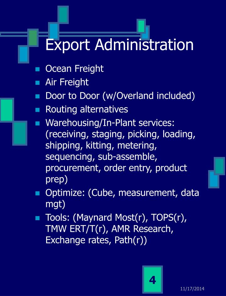 Export Administration
