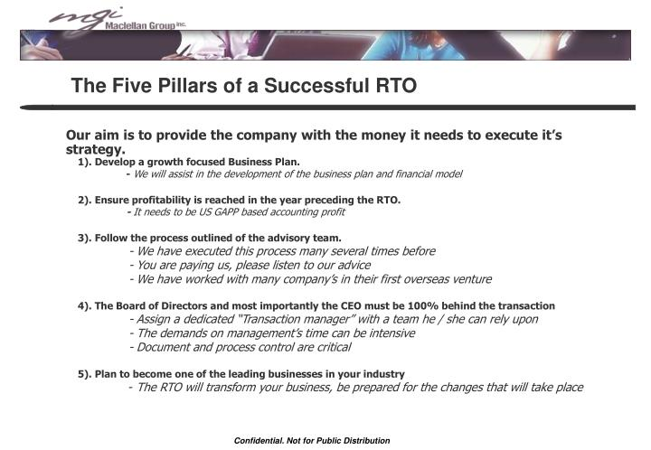 The Five Pillars of a Successful RTO