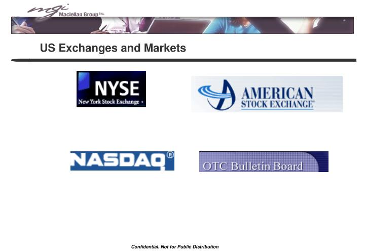 US Exchanges and Markets
