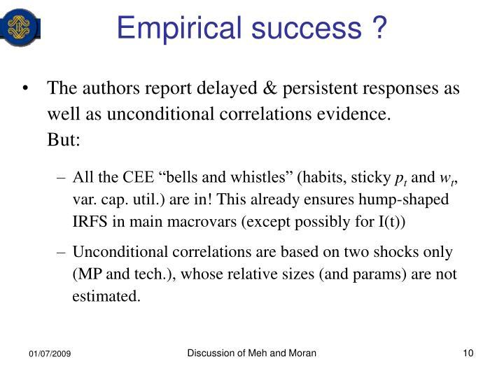 Empirical success ?