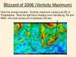 blizzard of 2006 vorticity maximum