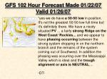 gfs 102 hour forecast made 01 22 07 valid 01 26 07