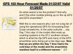 gfs 102 hour forecast made 01 22 07 valid 01 26 071