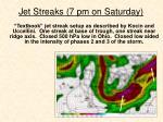 jet streaks 7 pm on saturday