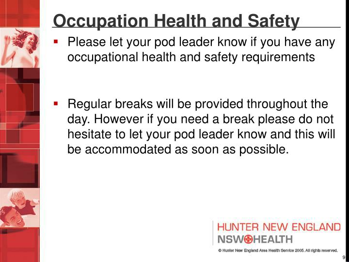 Occupation Health and Safety