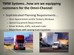 tmw systems how are we equipping customers for the omni channel