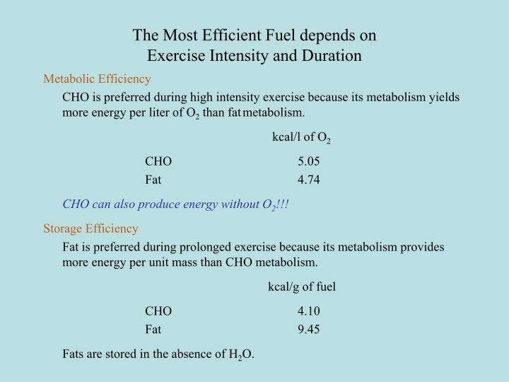 The Most Efficient Fuel depends on