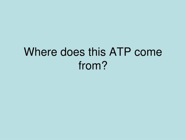 Where does this ATP come from?