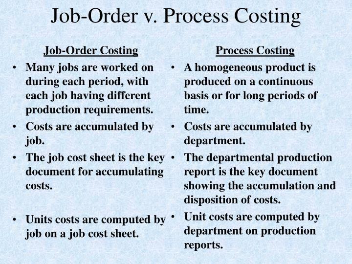 Job order v process costing