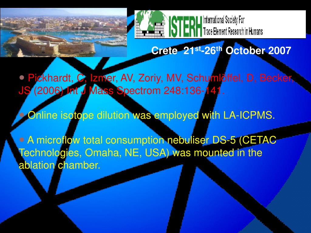 PPT - RECENT DEVELOPMENTS IN ICPMS APPLIED TO STUDIES IN NUTRITION