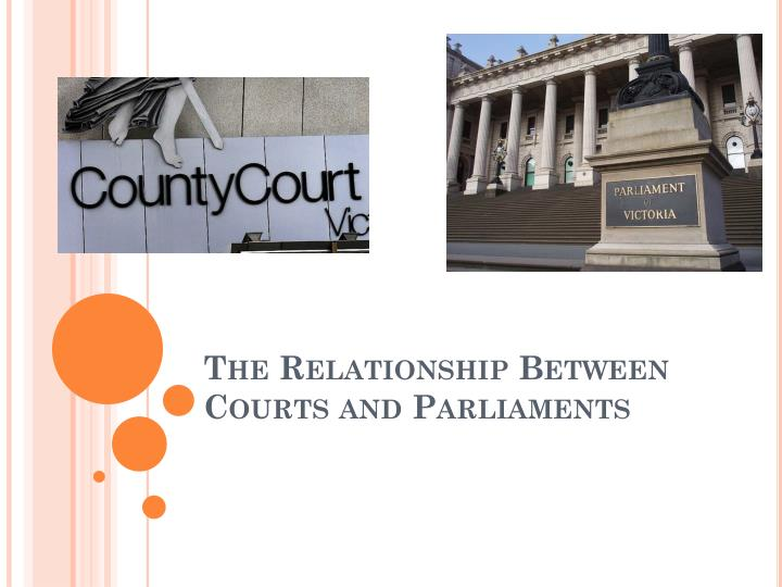 the relationship between courts and parliaments n.