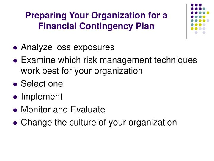 Preparing Your Organization for a Financial Contingency Plan