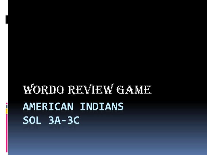 Wordo review game